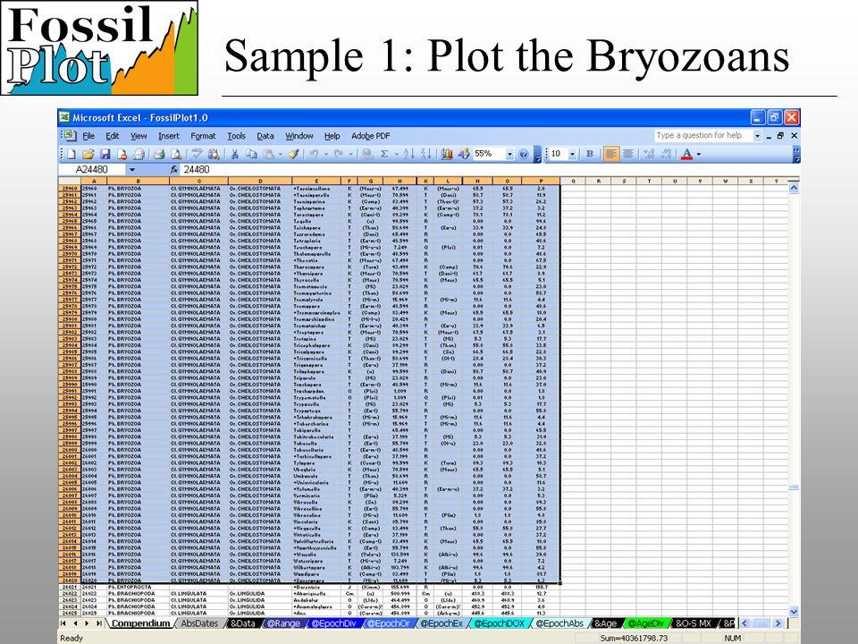 Speciation Sample 1: Plot the Bryozoans
