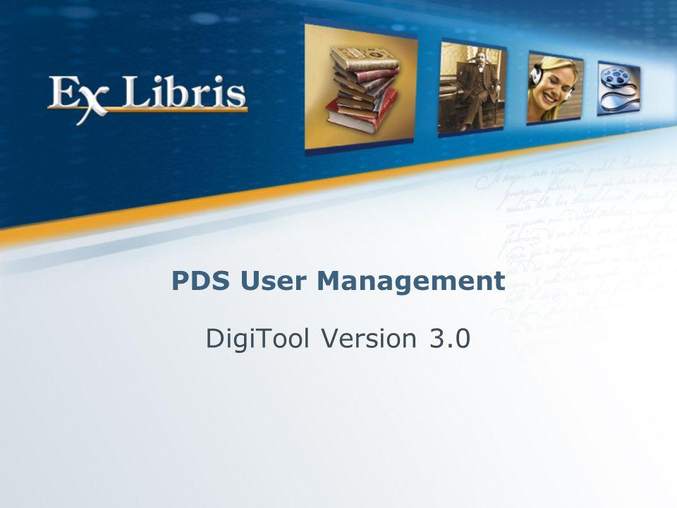User Management 2 PDS Overview PDS Setup Single Sign On Agenda