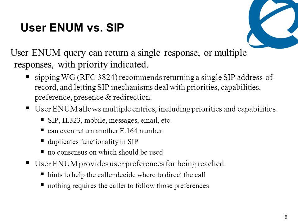 - 8 - User ENUM vs.