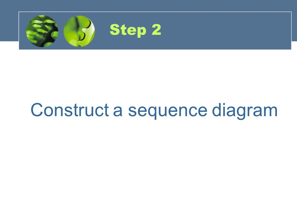 Step 2 Construct a sequence diagram