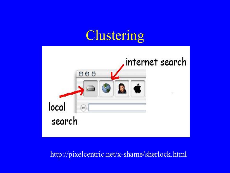 Clustering http://pixelcentric.net/x-shame/sherlock.html