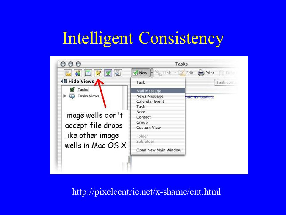 Intelligent Consistency http://pixelcentric.net/x-shame/ent.html