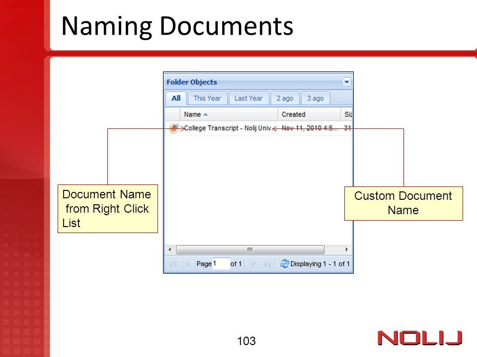Naming Documents Document Name from Right Click List Custom Document Name 103