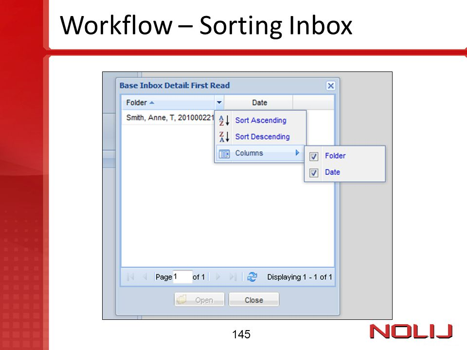 Workflow – Sorting Inbox 145