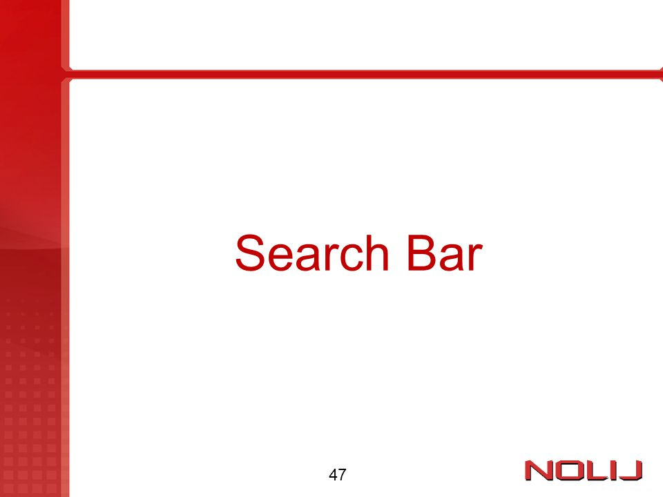 Search Bar 47