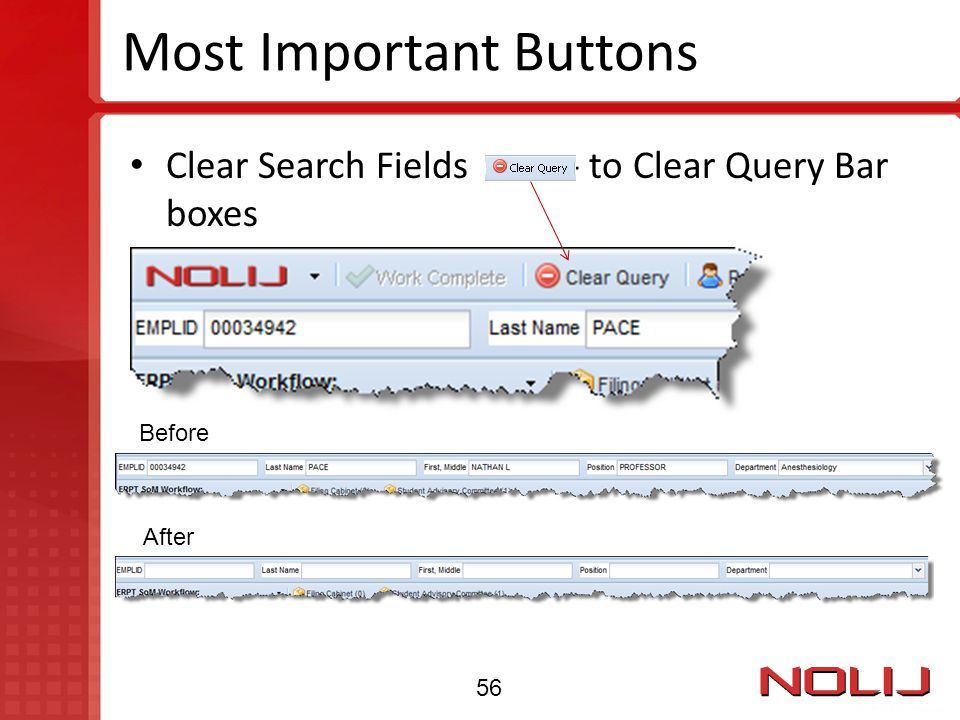 Most Important Buttons Clear Search Fields - to Clear Query Bar boxes Before After 56