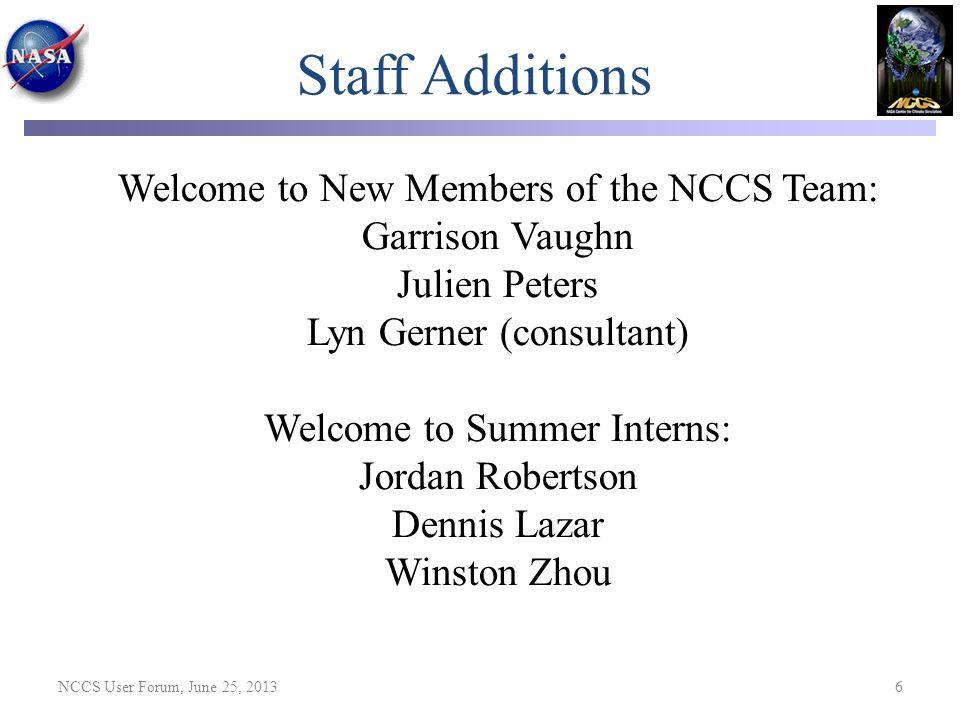 NCCS User Forum, June 25, 2013 37 Some Discover Updates Slides (Intel Sandy Bridge and Intel Phi MIC) from September 25, 2012 NCCS User Forum