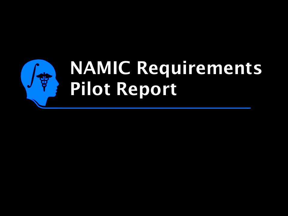 NAMIC Requirements Pilot Report