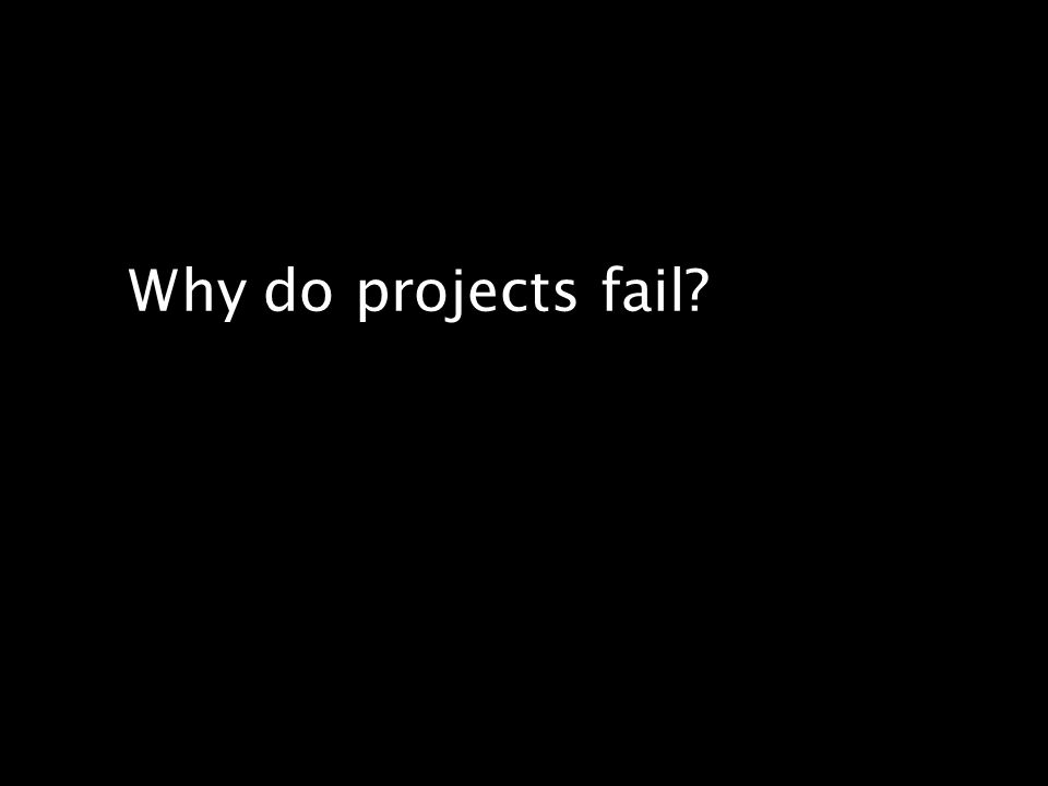 Opinions about why projects are impaired and ultimately canceled ranked incomplete requirements and lack of user involvement at the top of the list. – Standish Group, Chaos Report, 1994 The number one contributor to project success is user involvement.