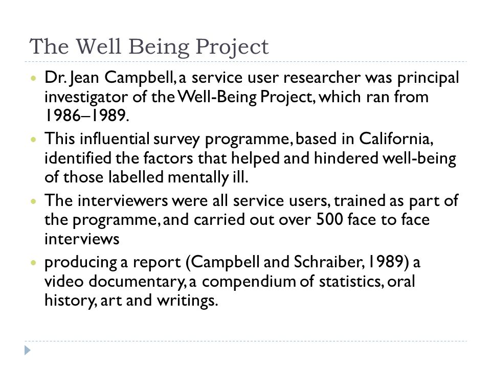The Well Being Project Dr.
