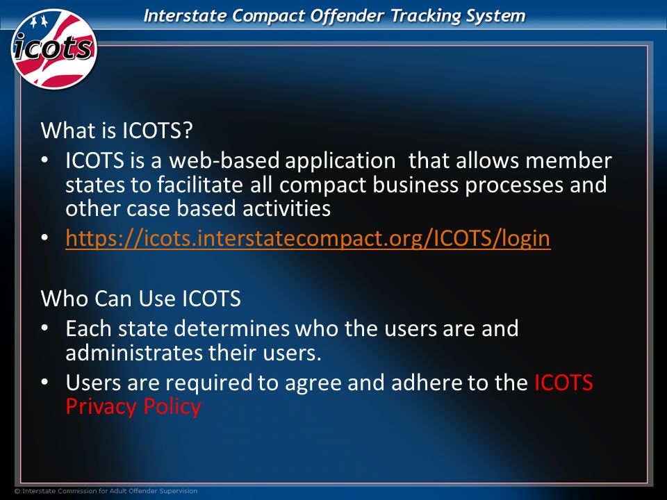 What is ICOTS.