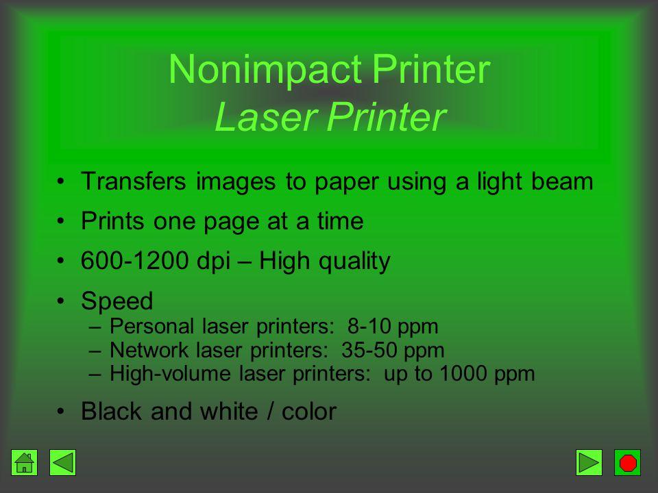 Nonimpact Printer Laser Printer