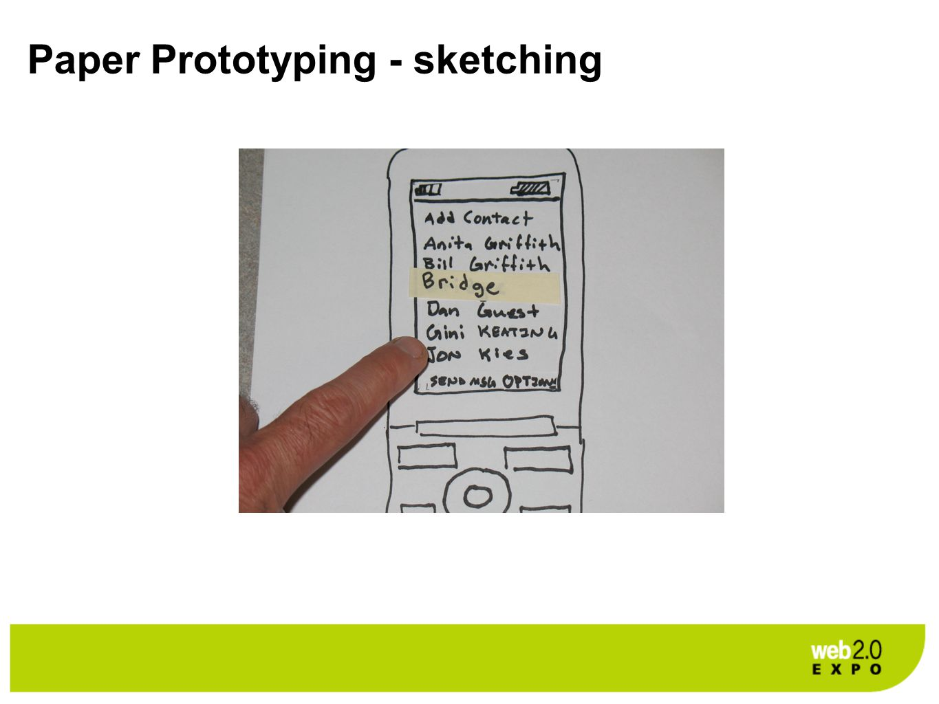 Paper Prototyping - sketching