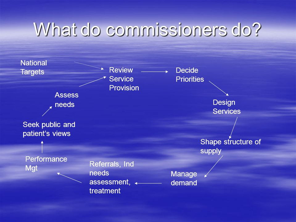 What do commissioners do.