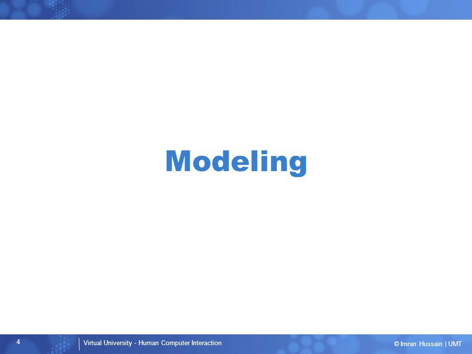 Virtual University - Human Computer Interaction 5 © Imran Hussain | UMT Why Model.