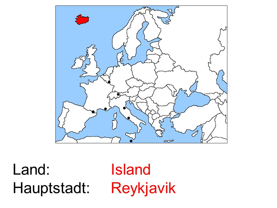 Island Reykjavik