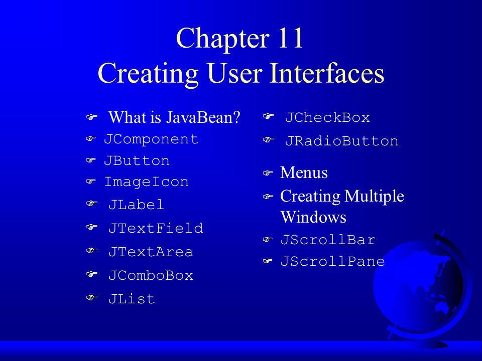 Creating Message Dialogs Use static method in JOptionPane class.