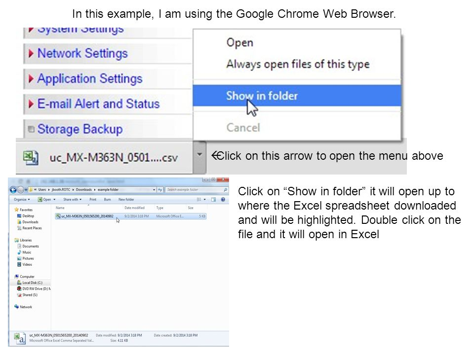 In this example, I am using the Google Chrome Web Browser.