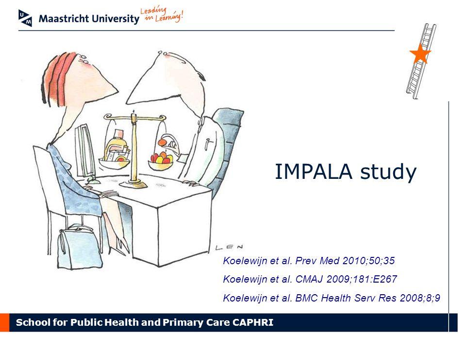 School for Public Health and Primary Care CAPHRI Koelewijn et al.