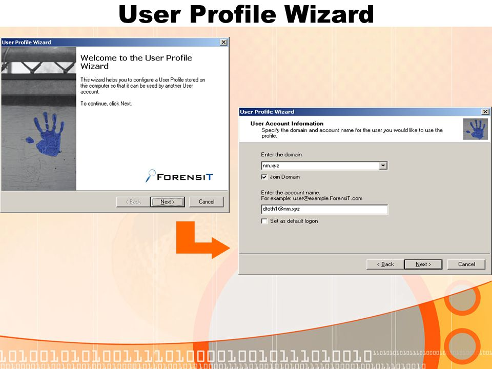 User Profile Wizard