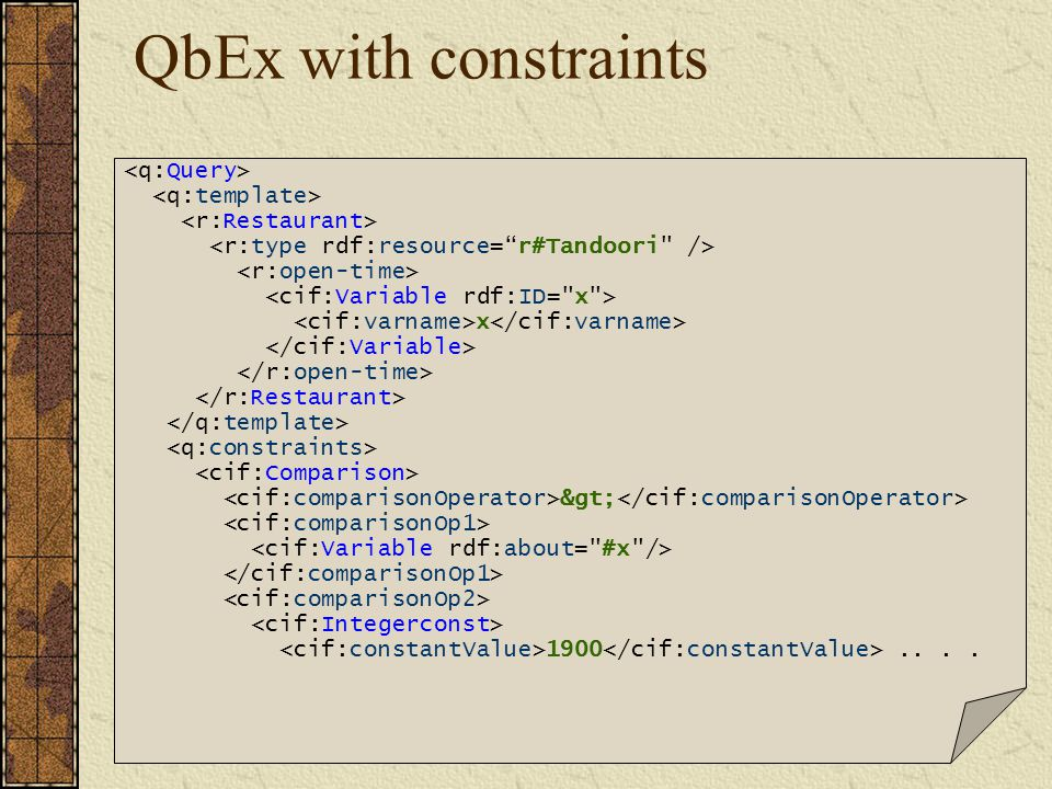 QbEx with constraints x > 1900....