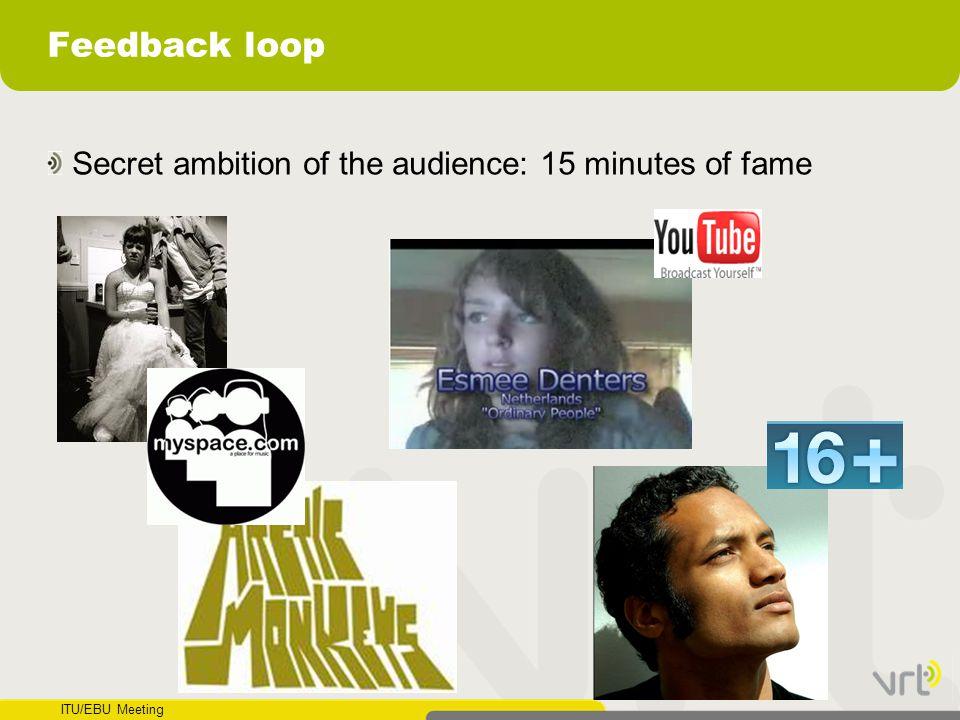 ITU/EBU Meeting Feedback loop Secret ambition of the audience: 15 minutes of fame