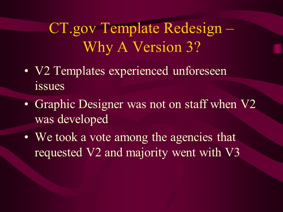 CT.gov Template Redesign – Why A Version 3.