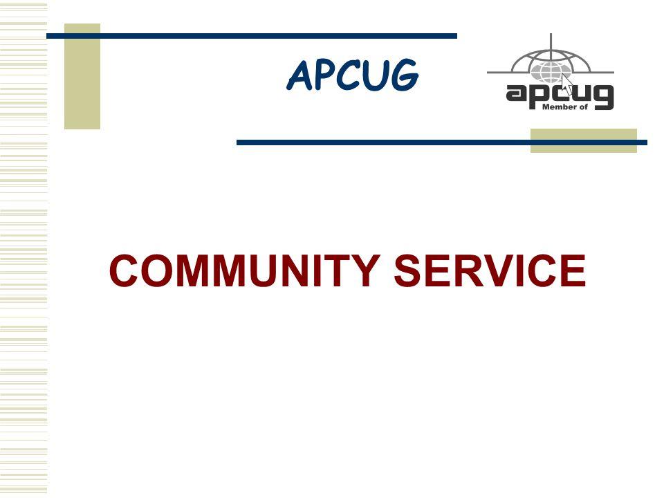 APCUG COMMUNITY SERVICE