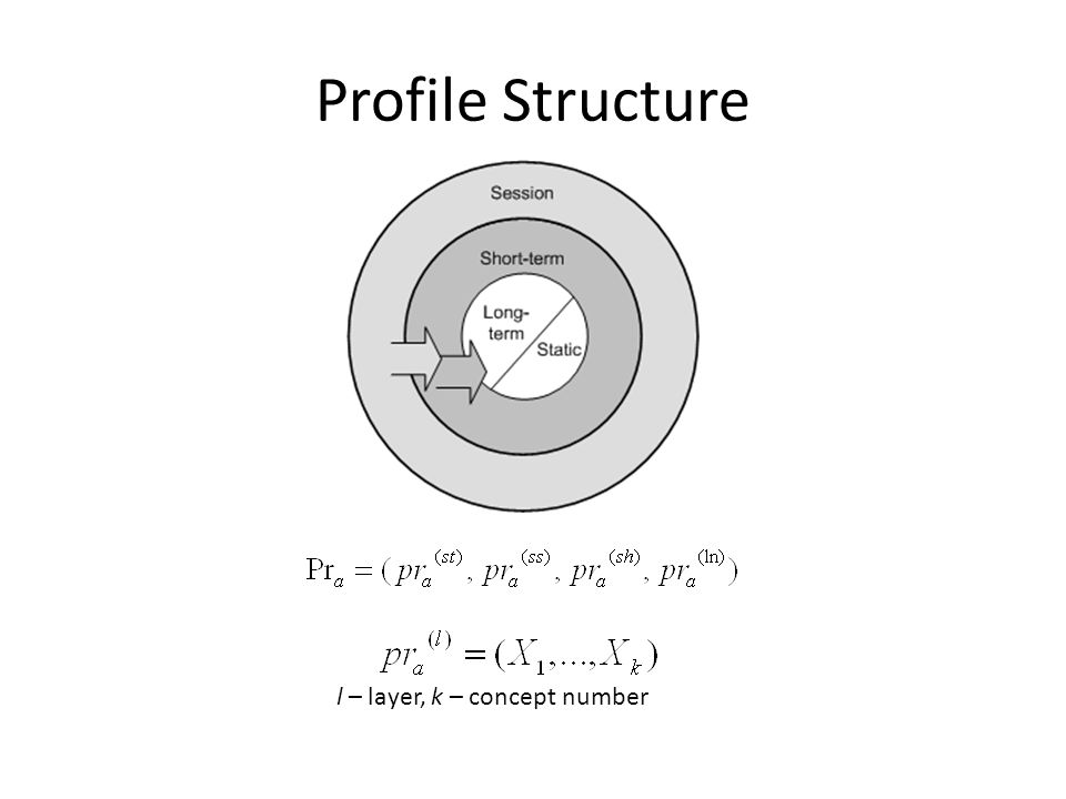 Profile Structure l – layer, k – concept number