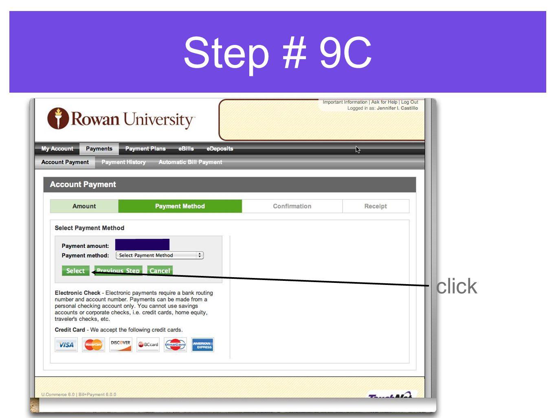 Step # 9C click