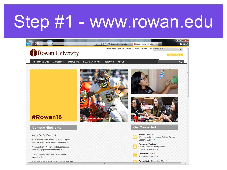 Step #1 - www.rowan.edu