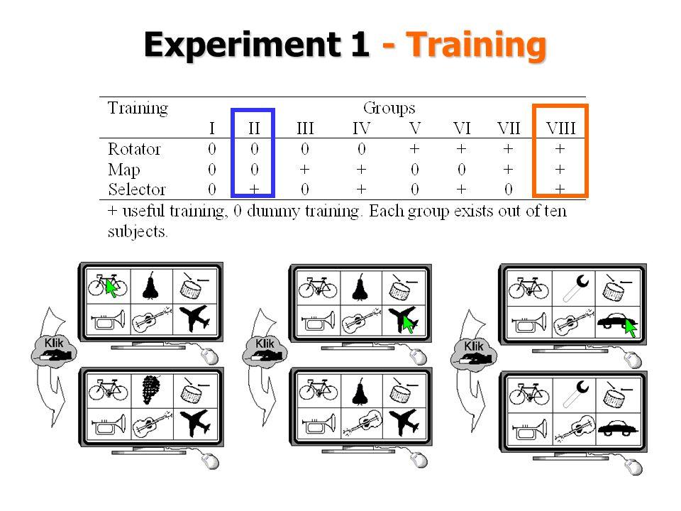 Experiment 1 - Training