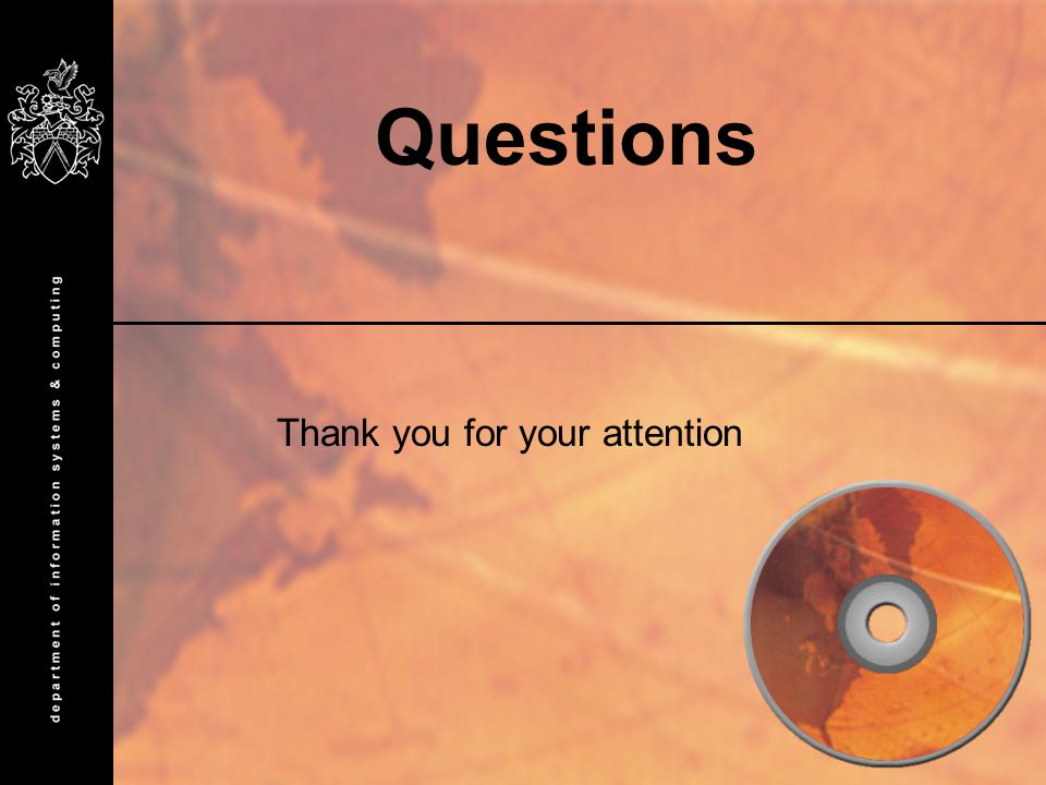 Questions Thank you for your attention