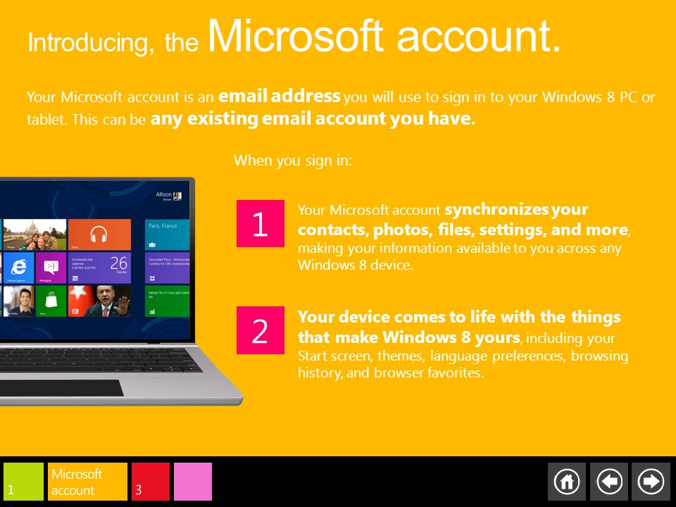 Introducing, the Microsoft account.