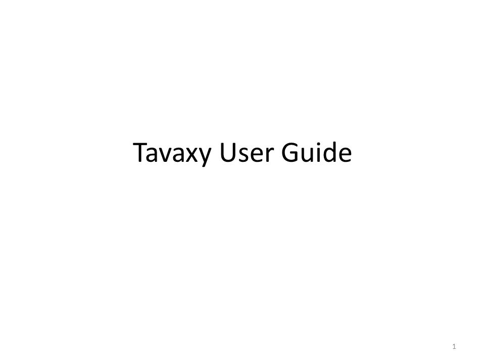 Tavaxy User Guide 1