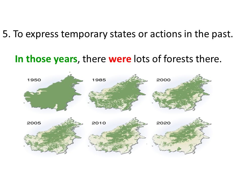 In those years, there were lots of forests there. 5.