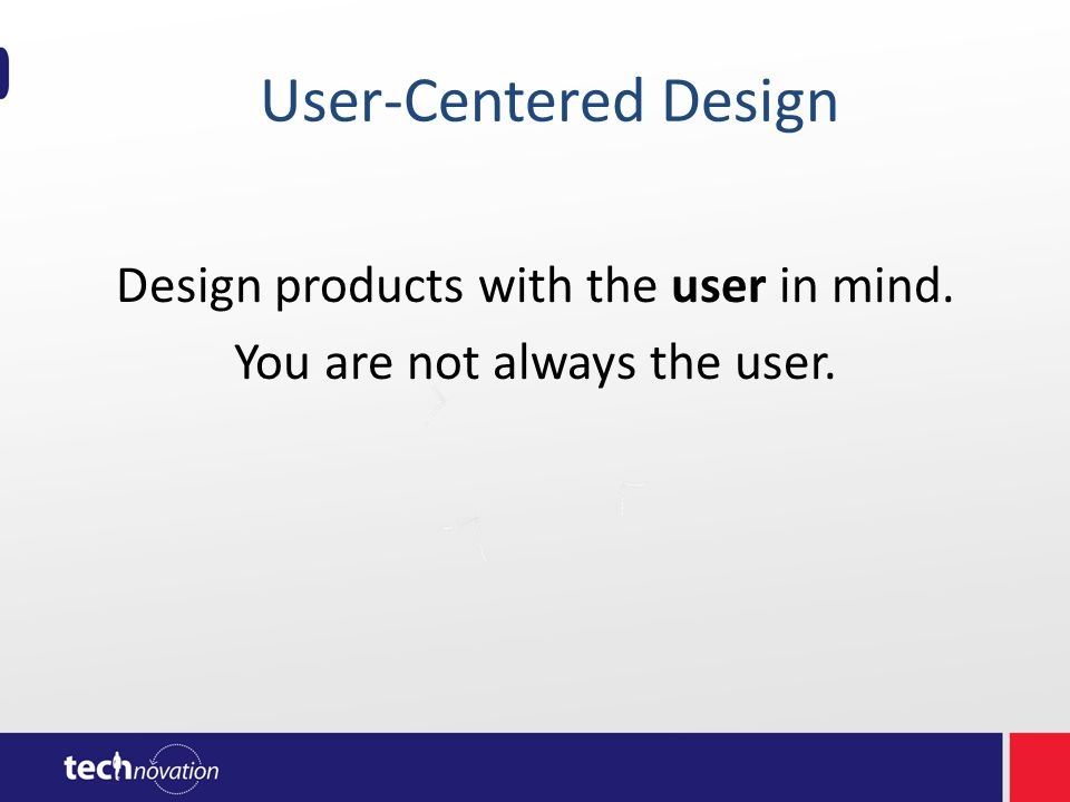 What happens when you do not design with the user in mind.