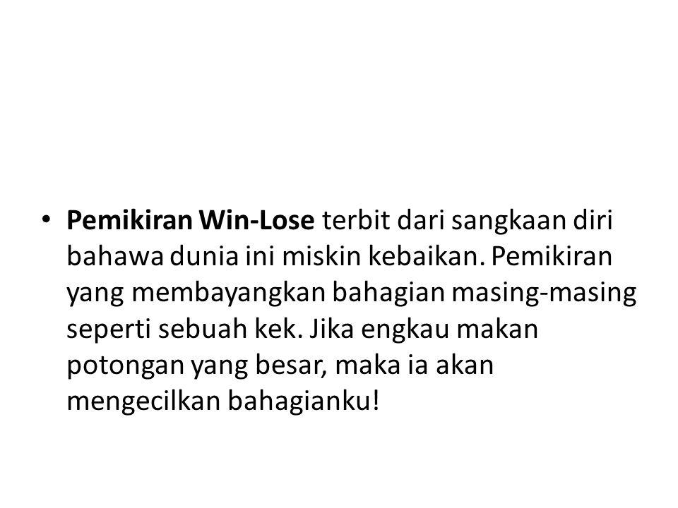 Pemikiran Win-Lose terbit dari sangkaan diri bahawa dunia ini miskin kebaikan.