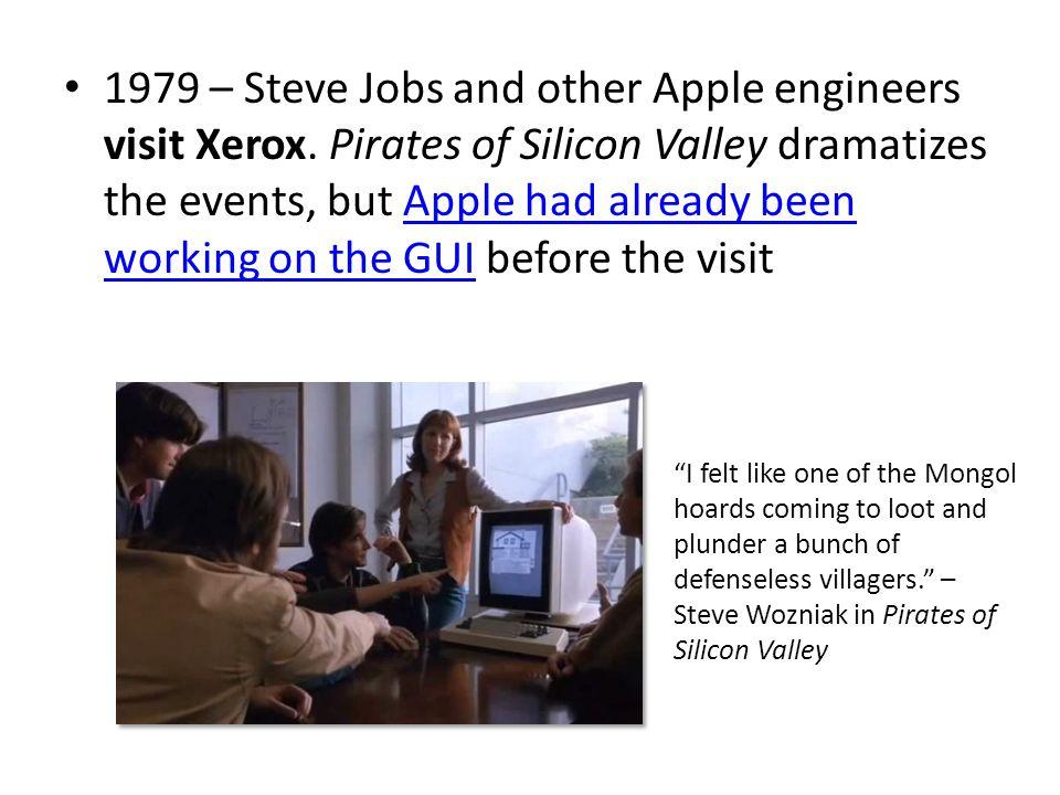 1981 – Xerox Star: focus on WYSIWYG.