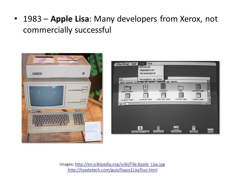 1984 – Apple Macintosh popularizes the GUI.