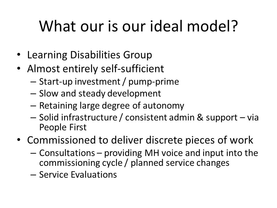 What our is our ideal model.
