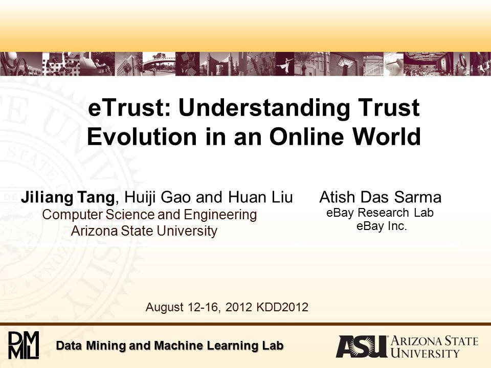 Applications of eTrust: Trust Prediction The likelihood of trust establishing is estimated as,