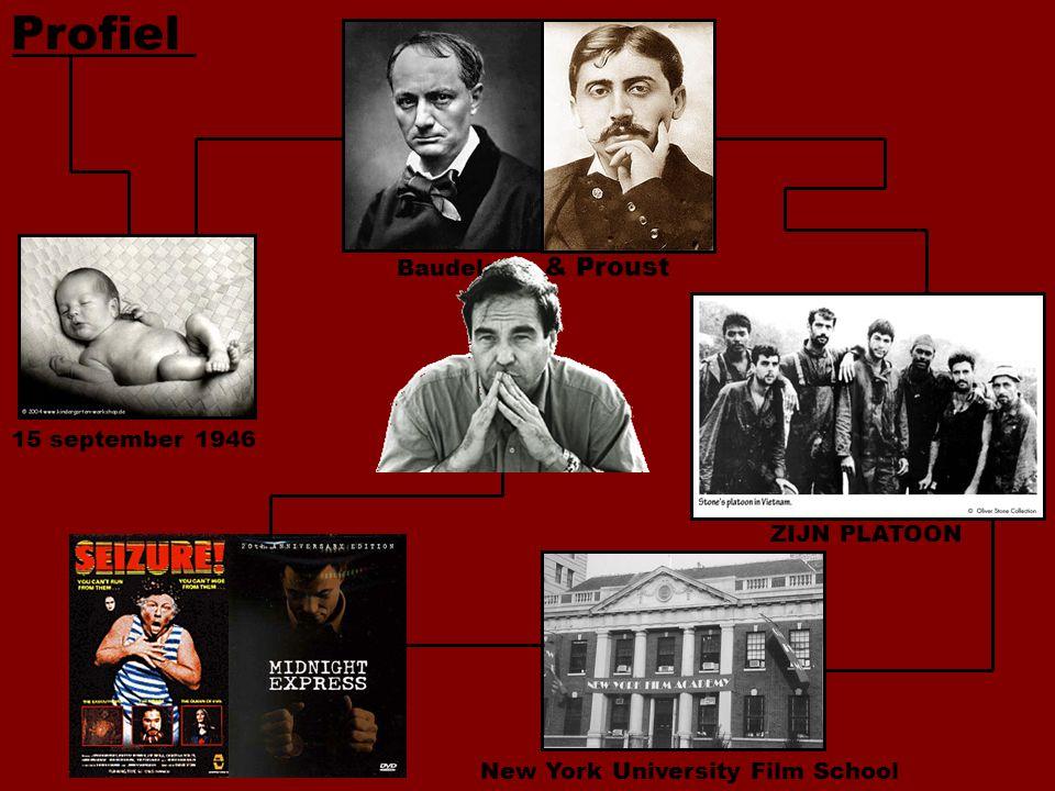 Profiel 15 september 1946 Baudelaire & Proust ZIJN PLATOON New York University Film School