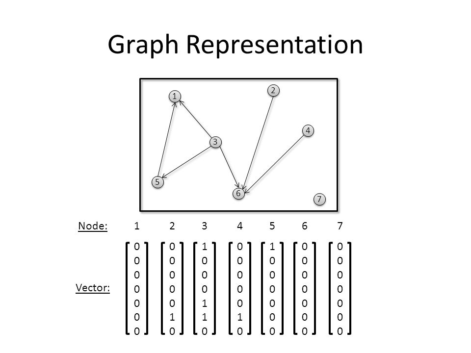 Node: Vector: Graph Representation