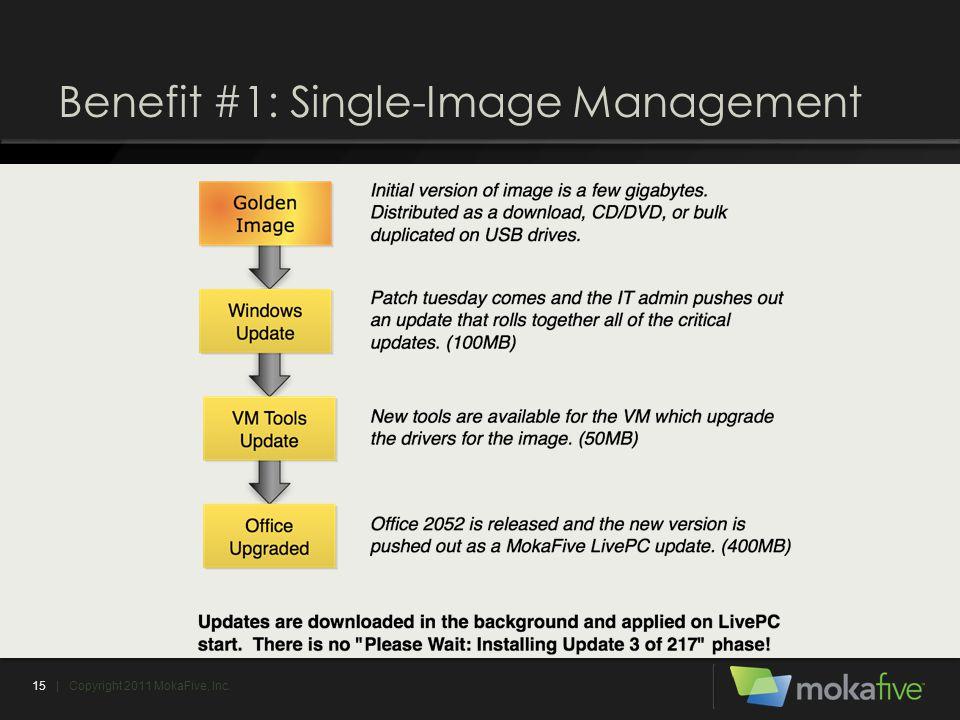 Benefit #1: Single-Image Management 15| Copyright 2011 MokaFive, Inc.