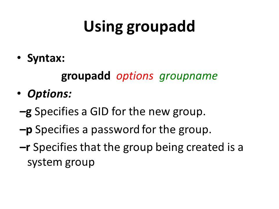 Using groupdel group_name Syntax:groupdel group_name student example: groupdelstudent