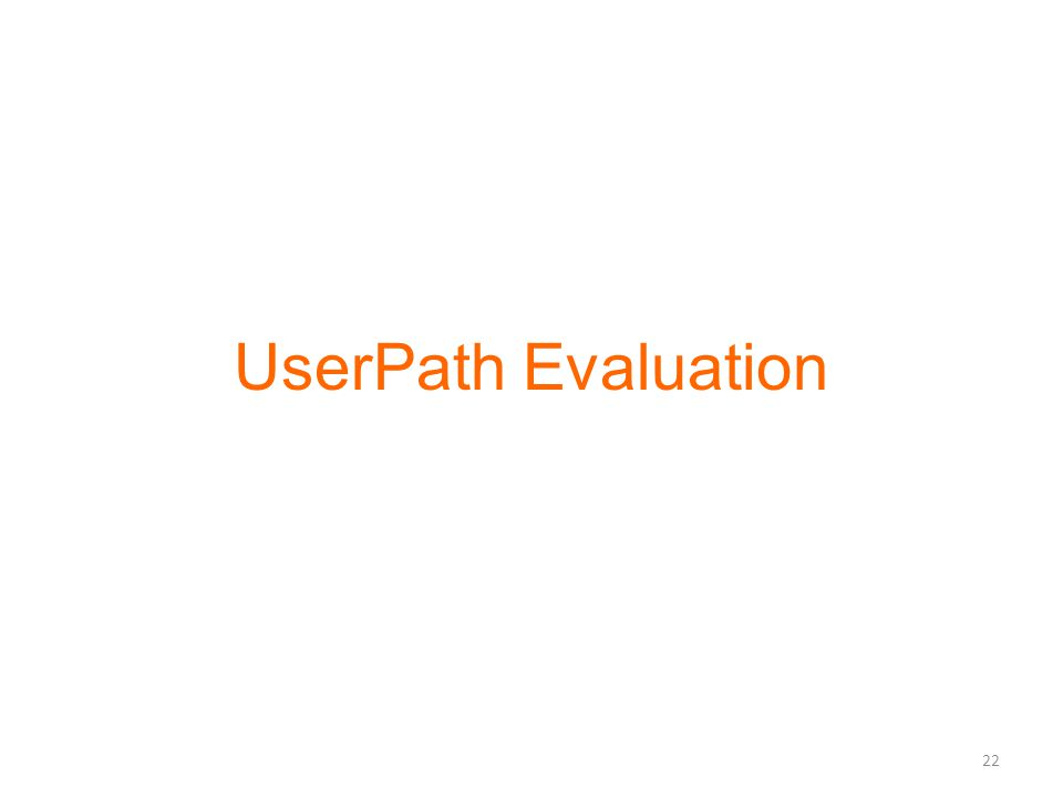 UserPath Evaluation 22