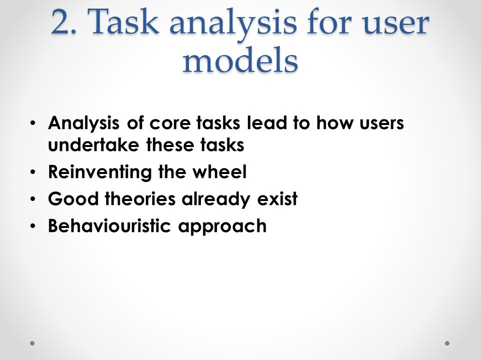 Exercise Construct 2 questions for each zone of your cell phone to determine usability