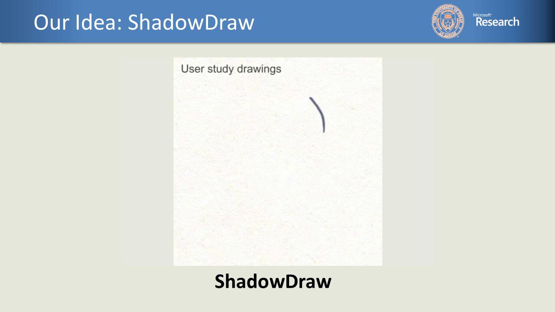 Our Idea: ShadowDraw ShadowDraw