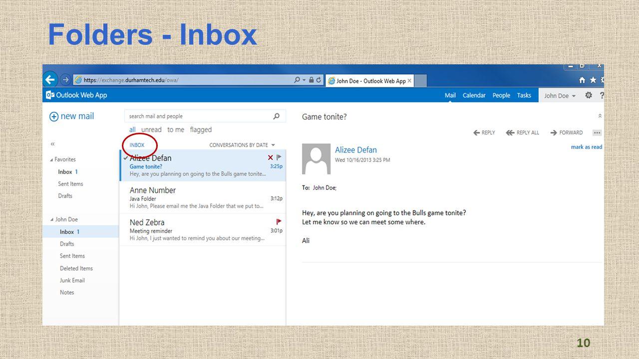 Folders - Inbox 10
